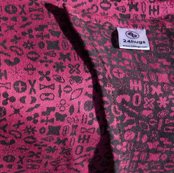 24hugs 4,2m baby sling  pink-black 5