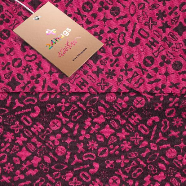 24hugs 4,2m baby sling  pink-black 2