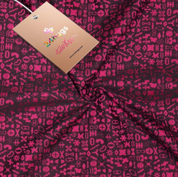 24hugs 4,6m baby sling  pink-black 3